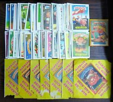 Rare Colombian Garbage Pail Kids Trading Card Set (-5) W/ (7) Wrappers+Full Pack