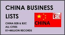 China Email Lists, China business Database, china Consumers B2C Emails lists