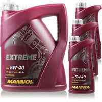 8 Liter Original MANNOL Motoröl Extreme 5W-40 API SN/CF Öl Motoröl