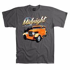 Auto T-Shirt Hot Rod v8 custom Oldtimer 50er Design Rockabilly *1000 grau