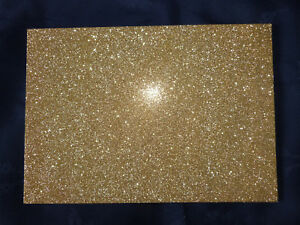 1 x Glitter Card - A4 250gsm High Quality Card - Sparkling GOLD