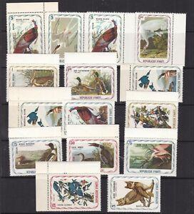 "HAITI ^^^^^^^1975  x15 MNH "" AUDUBON ""BIRDS ( unissued! ) $$@ lar 750haiti"