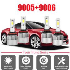 Combo Car LED Headlight Kit 9005+9006 6000K 3000W 40000LM LED Lamps Bulbs Set