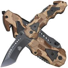 Puma Tec Einhand Rettungsmesser Camo Aluminium Griffschalen Gurtschneider
