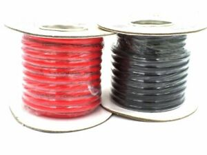 10mm² Black, Red 75A 12-240v Tri Rated Battery Cable Wire Auto Marine