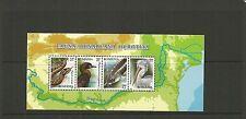 ROMANIA SGMS7051 PROTECTED FAUNA OF THE DANUBE MINISHEET MNH