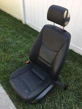 OEM 07 08 09 10 BMW E90 Front Left Driver Side Bucket Seat Black Leather