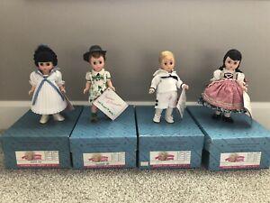 """Madame Alexander 8"""" Sound of Music dolls- Friedrich, Marta, Brigetta, & Kurt MIB"""