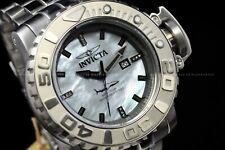 Invicta Men 70mm Full Sea Hunter Silver Automatic Diamond Accnt White Dial Watch