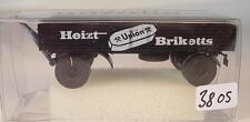 Brekina 1/87 55228 2-achs Anhänger Heizt Union Briketts OVP #3805