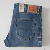 Levi's 512 Jeans Slim Taper Blue Denim Men's Size W38 L34 Zip Fly NEW