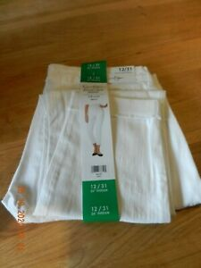 """Jessica Simpson Rolled Crop Cuff White Ladies Jeans Size UK 16 US 12 W34"""" NEW"""