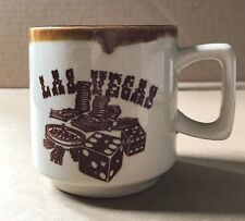 Vintage Las Vegas Mug Dice Gambling Drip Glaze Souvenir
