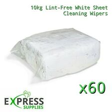 60 X 10kg Bags White Cotton Lint-Free Cleaning Rags / Wipers / Cloths / Pallet