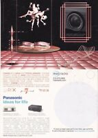 PANASONIC HOME PROJECTION SYSTEM UNUSED ADVERTISING COLOUR  POSTCARD (a)