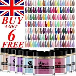 10g Nail Dipping Powder Acrylic Quick Dip System Dust Liquid BUY 4 GET 6 FREE