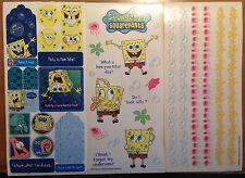 3 Large Sheets SPONGEBOB Squarepants Scrapbook Stickers