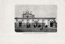 Stampa antica MILANO Chiesa Santa Maria in Corso Italia 1869 Old antique print