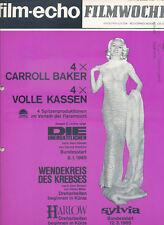 filmecho filmwoche Nr. 1 (1965) Carroll Baker Joseph E. Levine Harold Robbins