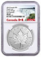 2019 Canada 1 oz Silver Maple Leaf Incuse $5 NGC MS69 FR Exclusive SKU57183