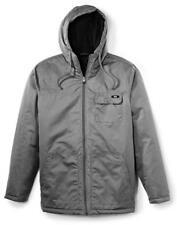 Oakley Men's Zip Up Hoodie Cron Jacket Gray Grigio Scuro L