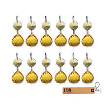 25 Gold Glass Hanging Crystal Ball Prism Chandelier Feng Shui Drops Pendant 20mm