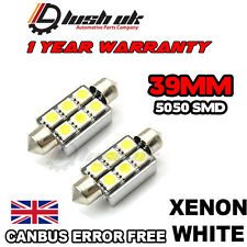 *Canbus 6 SMD White 39mm LED Festoon Bulbs ,Number Plate, BMW E39, E46, E60, E90