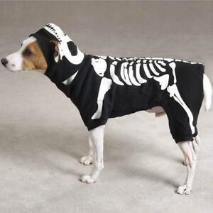 Glow Bones Black Dog Costume