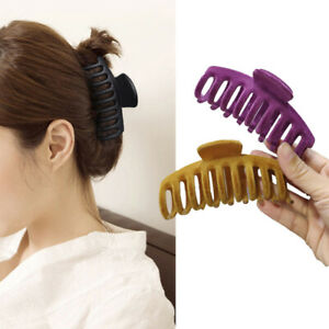 Hair Claws Crab Clamps Solid Hair Clips Retro Makeup Headwear  Hair Styling Tool