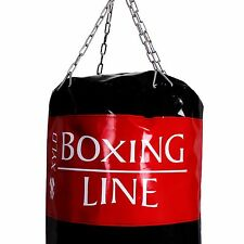 Boxen Karate Boxsack ungefüllt XYLO 130,150,180cm mit Stahlkette Drehwirbel Box
