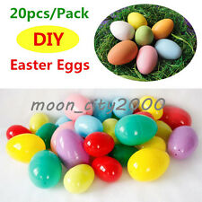 20X Empty Bright Coloured Plastic Easter Eggs Hunt Party Favours Decor