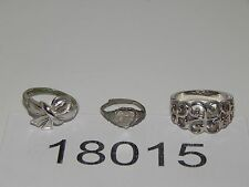 Vintage Jewelry LOT OF 3 Rings SILVER TONE AVON 18015