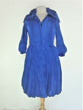 Manteau Trench Gianfranco Ferre Femme Coton Polyester Bleu Taille S
