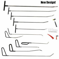 11pcs Black PDR Crowbar Tools Paintless Dent Repair for Door Dings Hail Removal