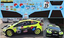 FORD FIESTA WRC YATES RALLY YPRES 2017  DECALS 1/43