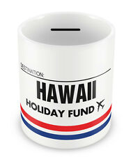 HAWAII Holiday Fund Money Box - Gift Idea Travelling Savings Piggy Bank