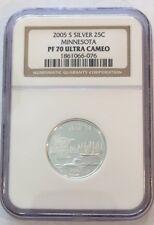 2005 S Silver 25C Minnesota PF 70 Ultra Cameo - NGC