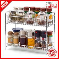 2Tier Standing Rack Kitchen Countertop Storage Organizer Shelf Holder Spice Rack