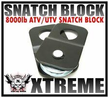 XTREME UNIVERSAL HEAVY DUTY ATV UTV 8000LB LOAD DOUBLING SNATCH BLOCK