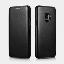 Samsung S9 Plus Leather Case Real Curved Edge Series Luxury Black