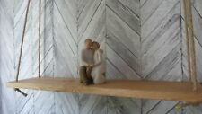 reclaimed wooden hanging rope shelf....beautiful addition to any room