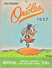 1957--BALTIMORE ORIOLES (ROOKIE BROOKS ROBINSON-GEORGE KELL)--YEAR BOOK--NMT
