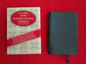 Holy Bible Pocket Leather Bound Gilt Edges NIV.
