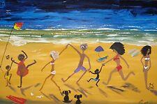 ART modern home DECOR   ORIGINAL Lynne Pickering  FUNKY BEACH Australia