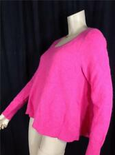 FAMOUS CATALOG ANGORA SWING SCOOP NECK SWEATER PINK SZ M