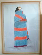 "RC Gorman Navajo Lithograph Art ""Carol's Blanket II"" L/E Signed 1984 Southwest"
