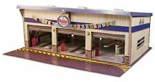 1:64 Scale Slot Car HO Pit Stop Garage Photo Real Building Track Layout Kit