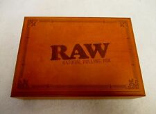 Large RAW Natural Rolling Stash Box with Tray Stores Tobacco Papers Tips