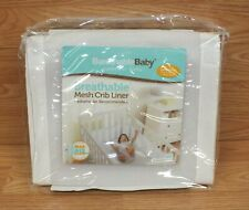 Breathable Baby Pediatric Recommended White Mesh Crib liner *Read*