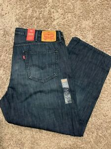 Levi's 559 Relaxed Straight FIT Men's Jeans Dark Blue 42X29 MSRP$59 559-0229 New